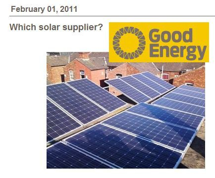 Good Energy Recommends Solar Suppliers 183 Solar Pv