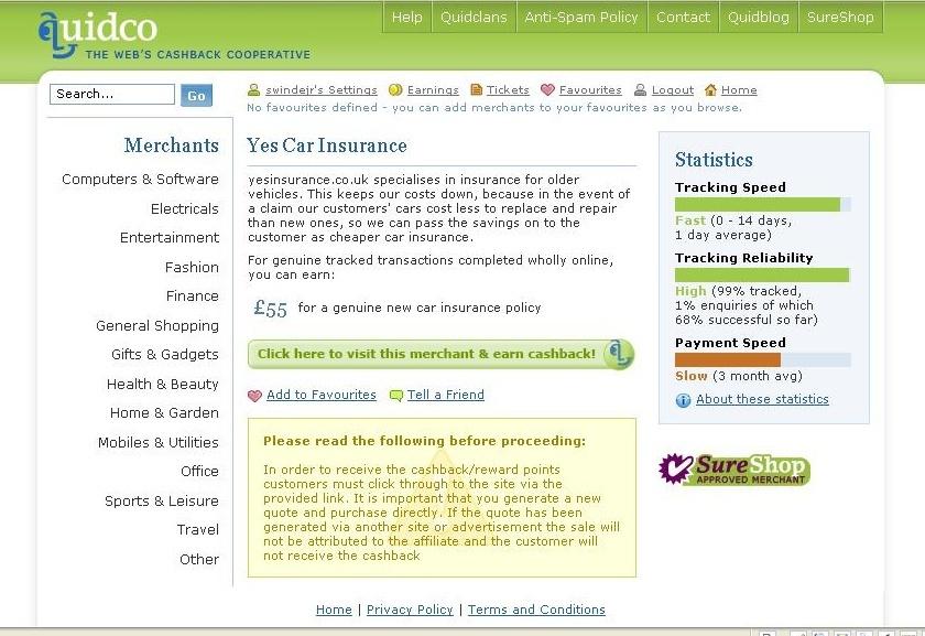 Cashback deals on home insurance
