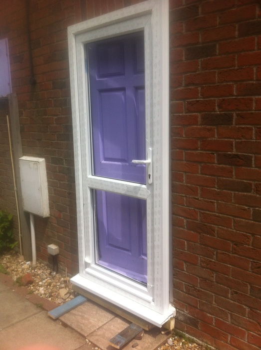 When the frame starts to rot on a door house and home for New upvc door and frame